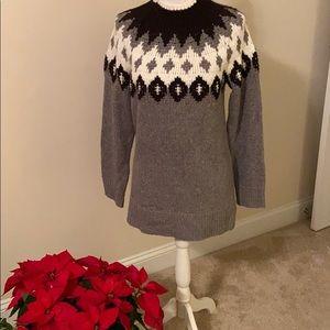 LOFT sweater in black , gray and cream